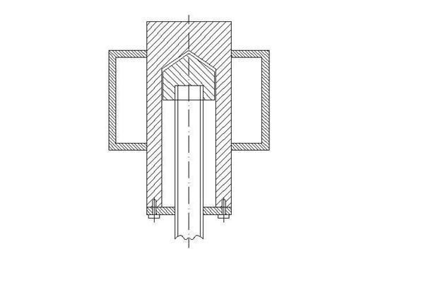 Забивка абиссинского колодца с помощью торцевой бабки с заглушкой